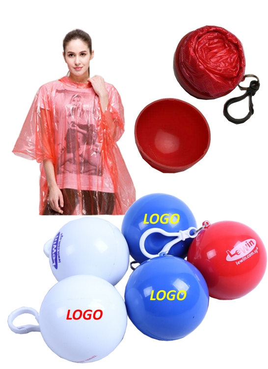 Portable Rain Poncho Ball