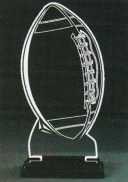 Football Champions Award-Clear Acrylic