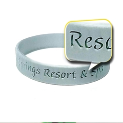 12mm CUSTOM Silicone Deboss Wristbands