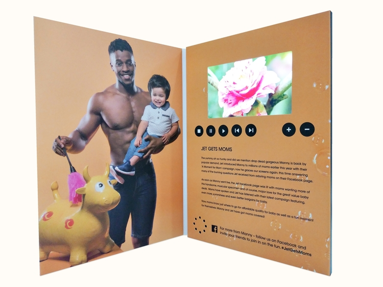 Custom 4.08 IPS Screen VIP Brochure/Video Mailer Card/Greeting Card/Gift Card