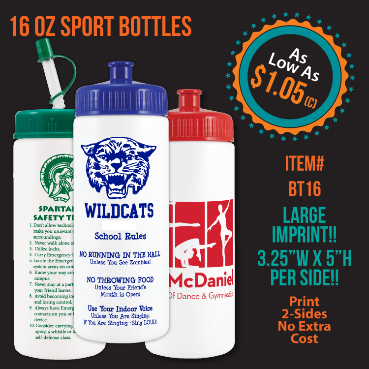 16oz. Sports Bottle