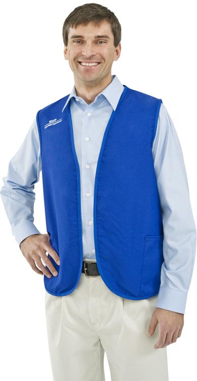USA Made Non-Button 2 Pocket Vest, Printed, 2XL-3XL