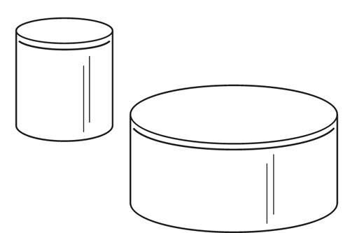 Acrylic Cylinder Riser- 4 DIA x 7H