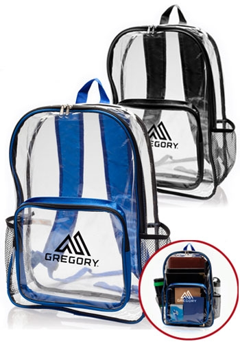 PVC Backpack with Pocket - 13 W x 18 H