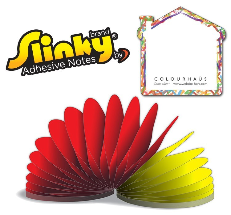 Slinky(R) Adhesive Notes - House Shape - 50 Sheets