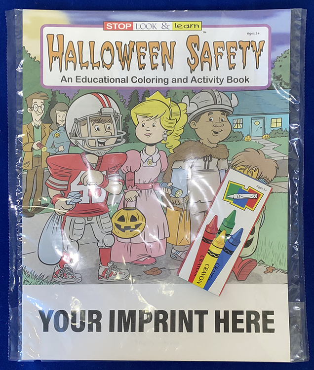 COLORING SET - Halloween Safety Coloring Book Fun Pack