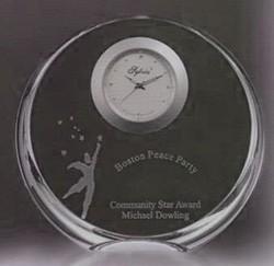 Tiara Clock. Optic Crystal
