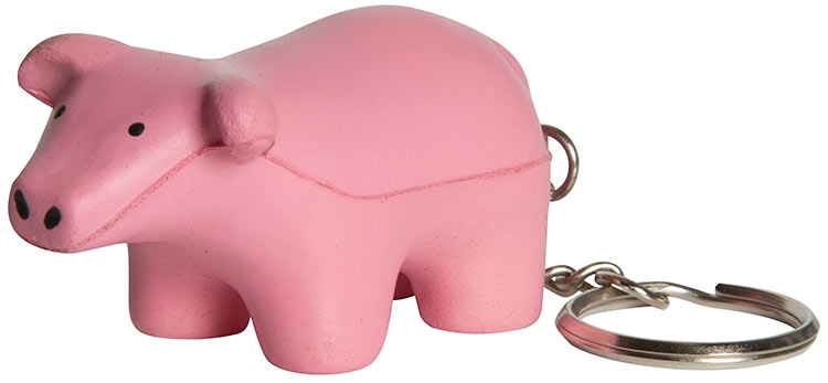 Pig Squeezies Keyring Stress Reliever