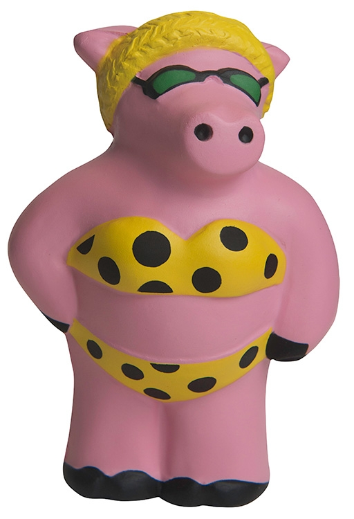 Cool Beach Pig Squeezies Stress Reliever