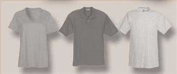 Photo of apparel: men, women, youth, polo shirts.