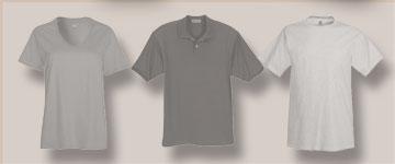 Photo of apparel: men, women, youth, polo shirts.