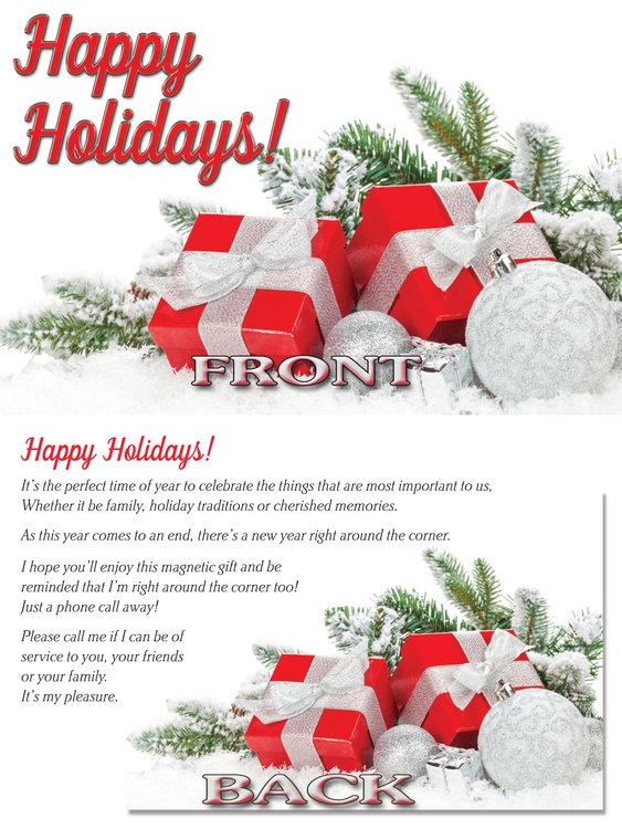 EZ Inserts – Happy Holidays