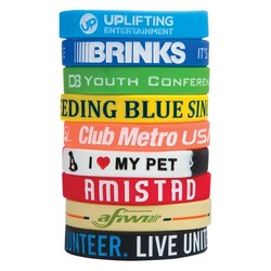 1/2 Debossed Color Filled Silicone Wristband