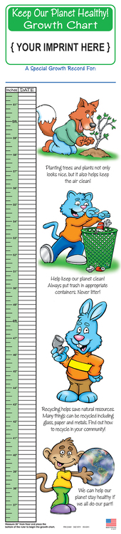 GROWTH CHART - Keep Our Planet Healthy Children\'s Growth Chart