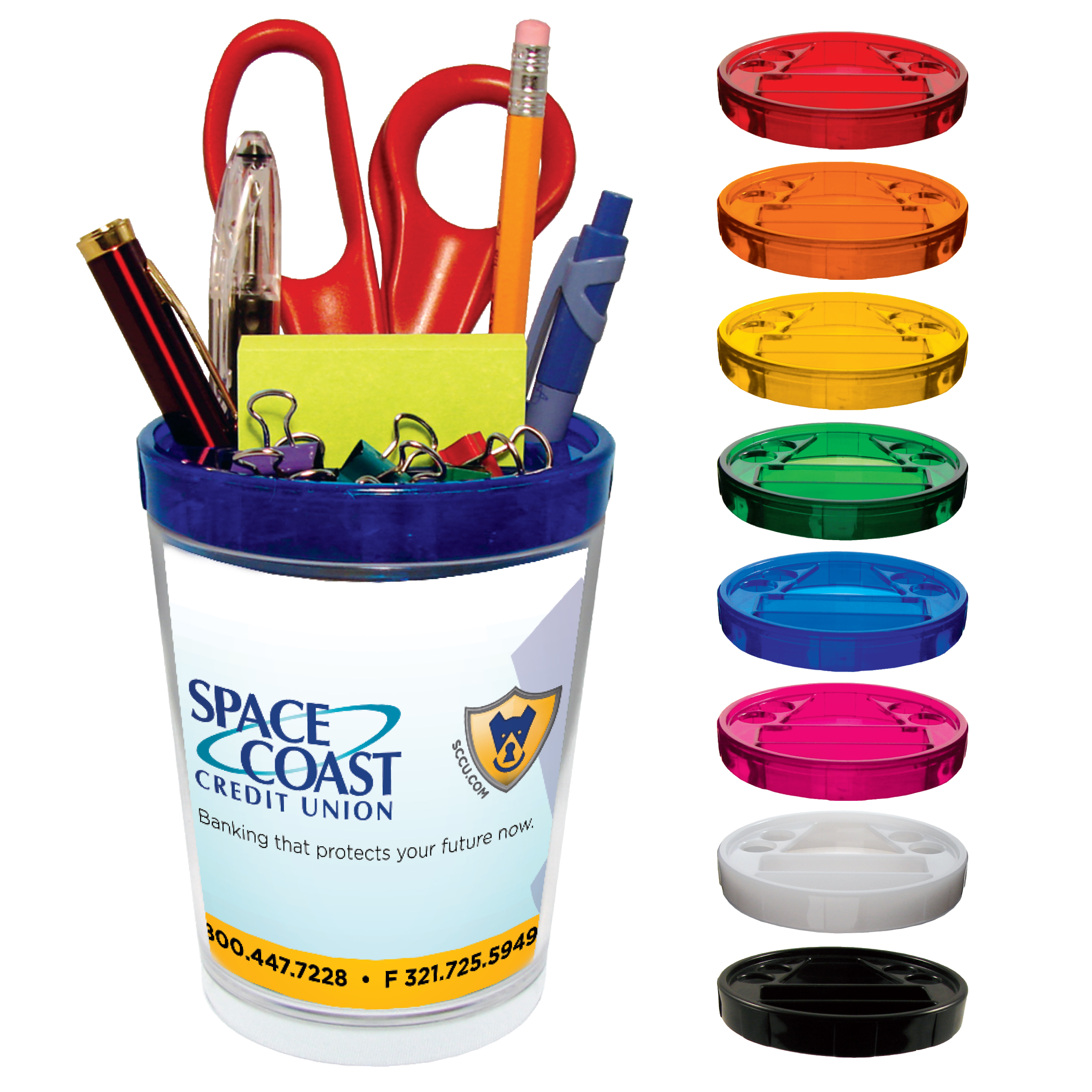 Desk Caddy with 4-Color Process Insert