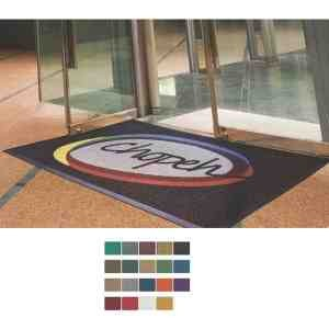 Waterhog Inlay Indoor/ Outdoor Logo Mat with Surface Nubs