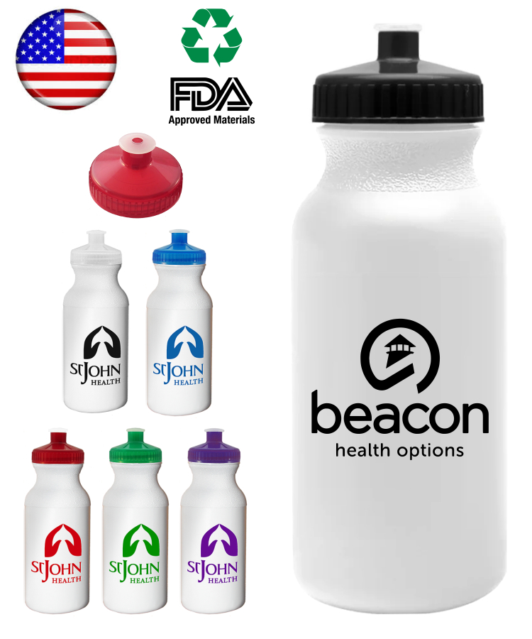 Union printed, USA Made, 20 oz. Sports Water Bottle.
