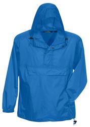 Unlined nylon 1/2 zip anorak hooded jacket. - NAVIGATOR