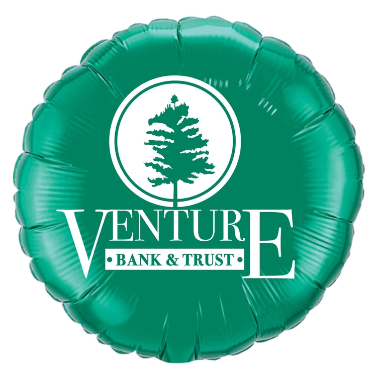 18 Round Microfoil Balloon 1-Color/1-Side Print
