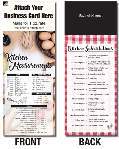 AdCard – Kitchen Measurements & Substitutions