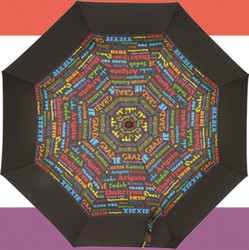43 Inch THANK YOU Auto Open Folding Umbrella SALE