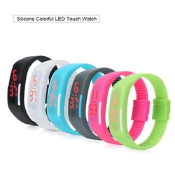 Colorful Silicone Strap LED Bracelet Watches