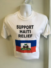 Haiti Relief Screen Print t-shirt with 5 colors