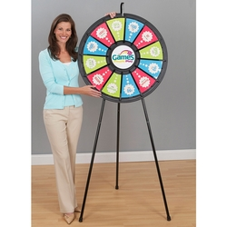31 12-Slot Black Floor Stand Prize Wheel - Prize Wheel