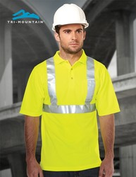 5.2 oz. 100% polyester mesh polo featuring Tri-Mountain UltraCool® moisture wicking technology. - BOUNDARY POLO