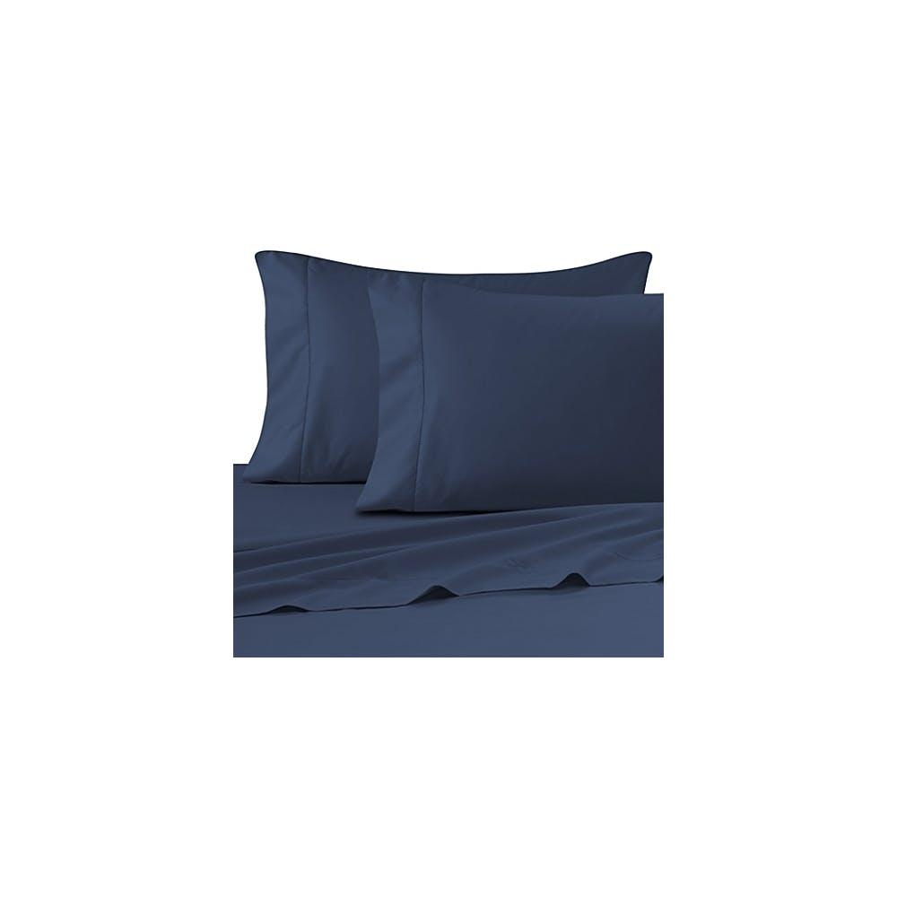Navy Blue Pillowcase 130 Thread Count