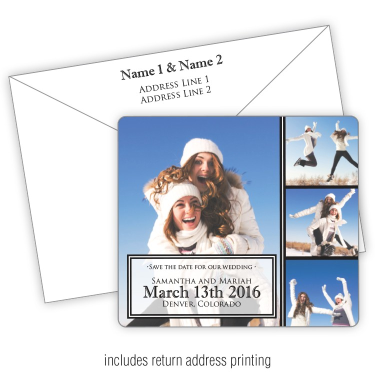 3.5x4 Wedding Magnet with FREE Printed Envelopes - FI #261