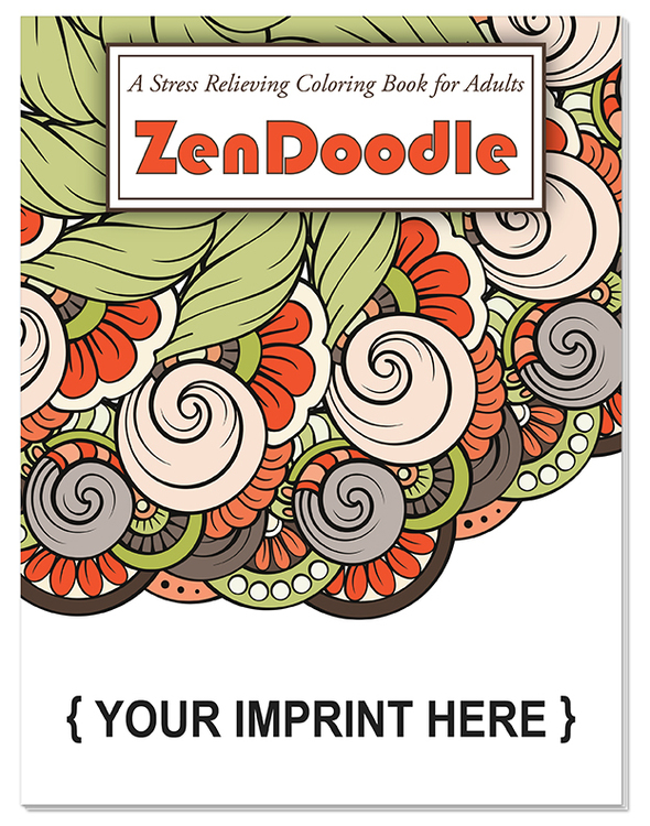 ADULT COLORING BOOK - ZenDoodle Stress Relieving Coloring Book for Adults - Stress Reliever Adult Coloring Book