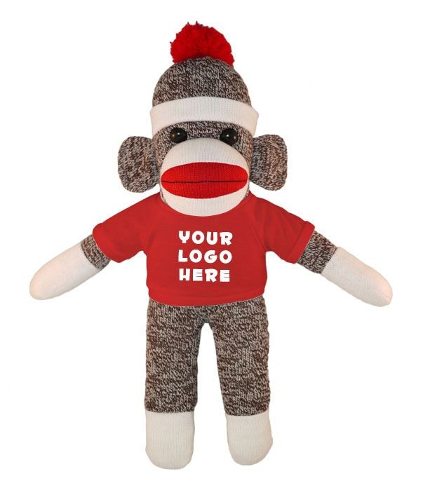 10 Sock Monkey (Plush) with Colored T-Shirts