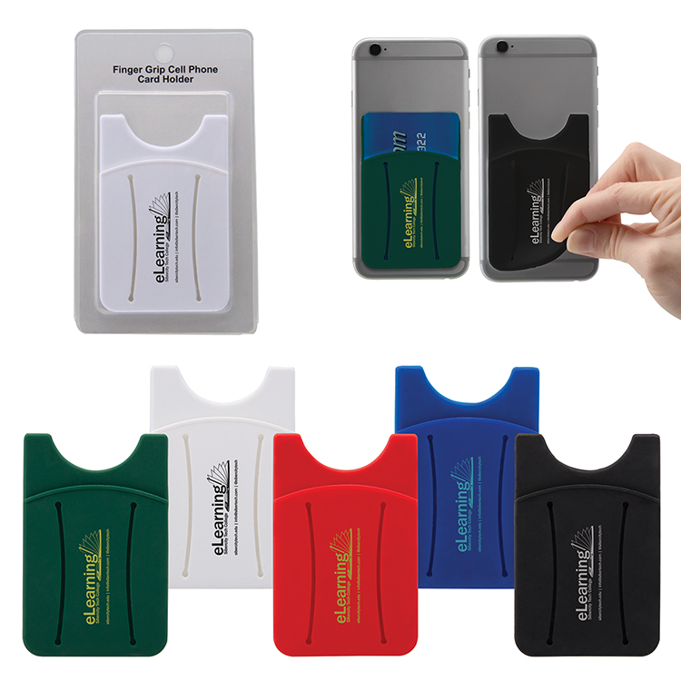 Cell Phone Card Holder >> Finger Grip Cell Phone Card Holder W Packaging 6213 H M