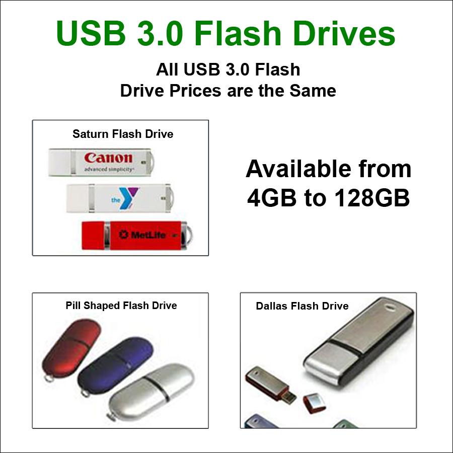 USB 3 0 Flash Drives - 4 GB