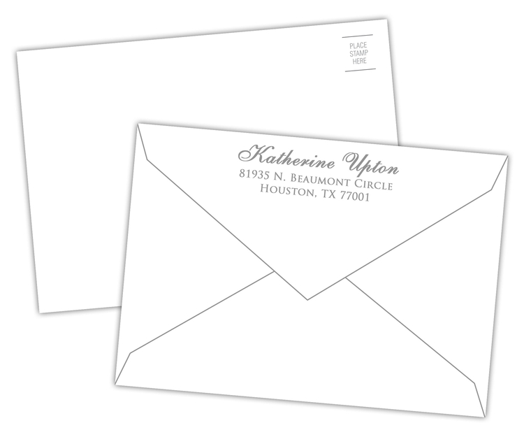 Envelope - 4 Printed White (5.125x3.625)
