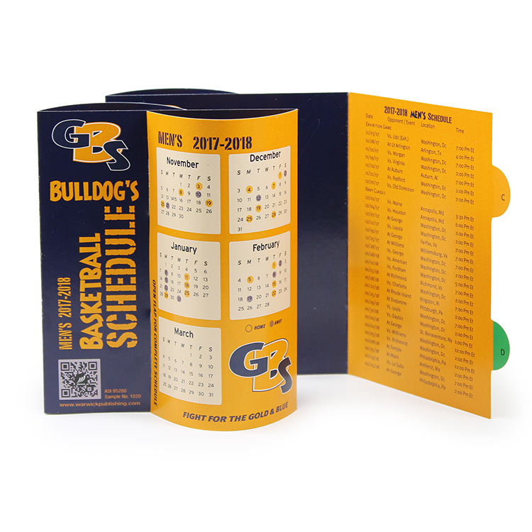 Sports schedule table tent