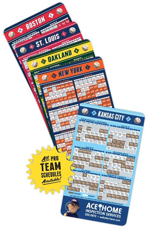 Magnet Sport Schedules - 3.5x6 Baseball Round Corners - 25 mil.