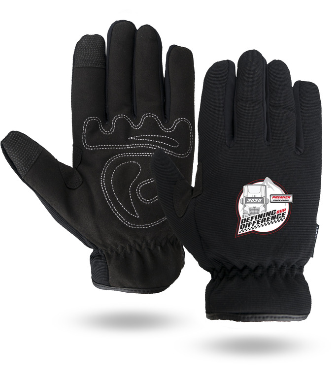 Winter Lined Black Touchscreen Mechanics Gloves