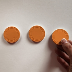 Orange Mini Prize Drop Pucks (Set of 3) - Prize Drop Accessories