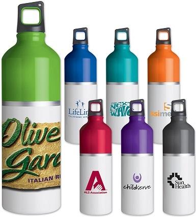 2-Tone Color Spot 25 Oz. Aluminum Water Bottle SALE - Now Only $5.09 Until April 30th