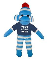 Blue Sock Monkey (Plush) with tee Stuffed Animal