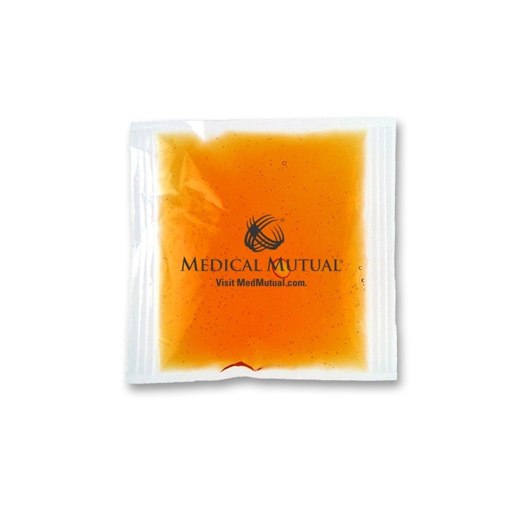 4.5 x 4.5 Orange STAY-SOFT Cold/Hot/Therapy Gel Pack with a one-color surface imprint
