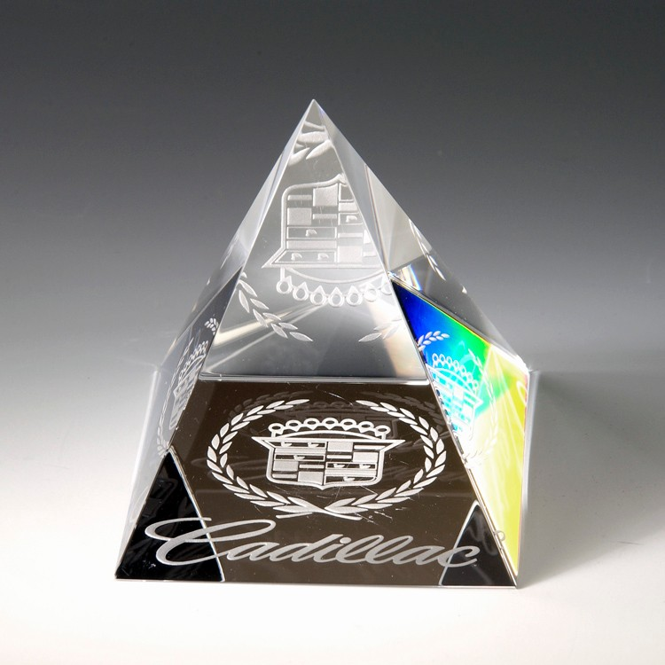 Award- Awards, Trophy,Pyramid Paperweight 2-1/8