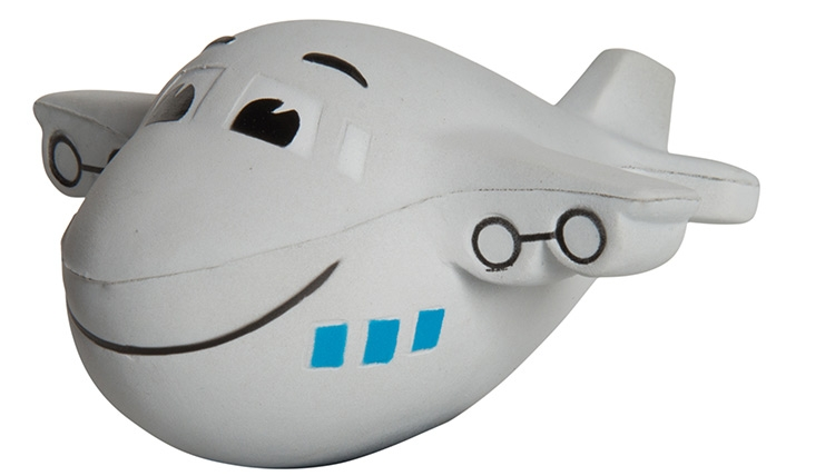 Mini Airplane with Smile Squeezies Stress Reliever