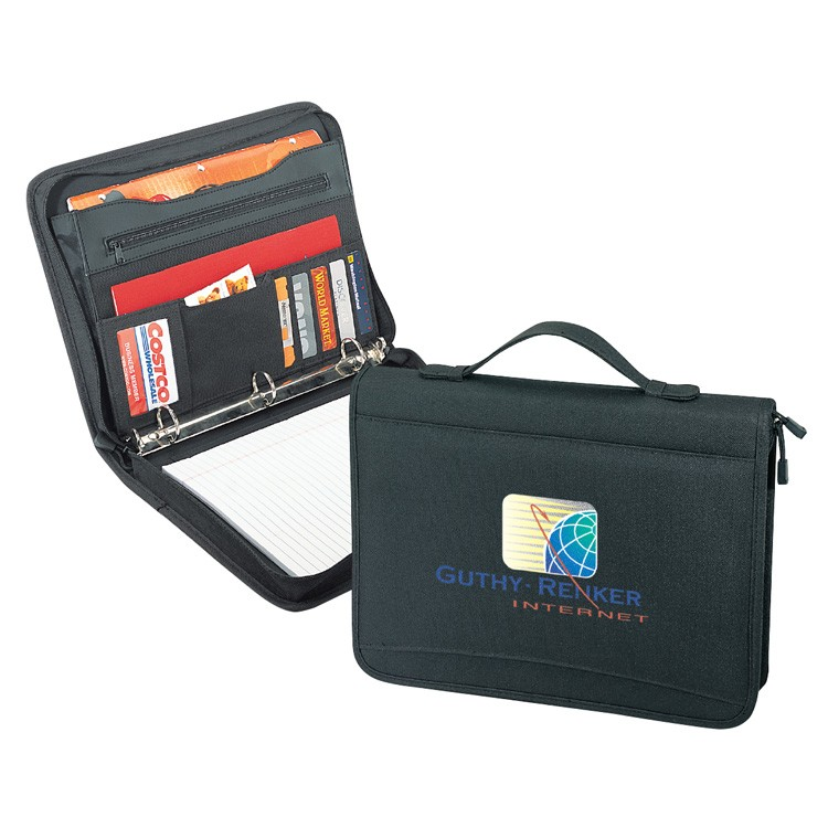 Zipper Binder Padded Portfolio