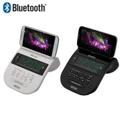 Jensen Bluetooth Clock Radio with Cellphone Holder