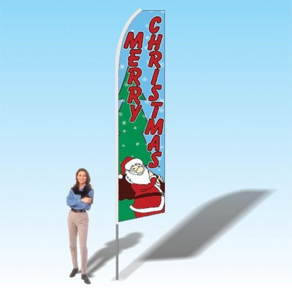 15FT Merry Christmas Advertising Banner Flag