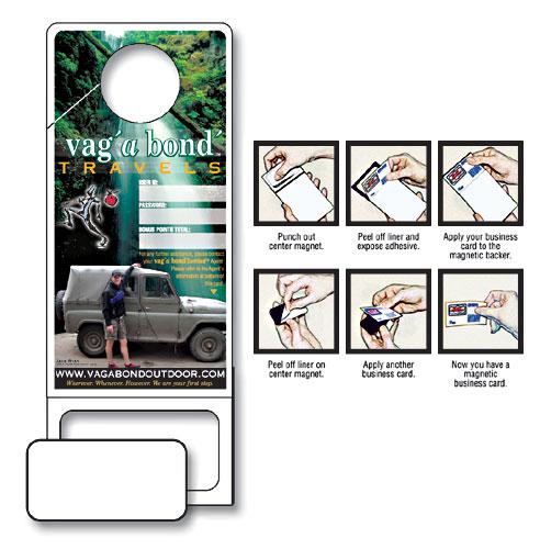 Doorhanger Wpunch Out Magnet Custom 35x9 4802 Tradenet