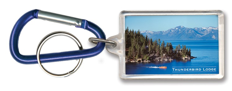 Key Tag - Rectangle with Carabiner Clip - Full Color - Budget friendly acrylic key chain / ring / holder and key accessories for auto, car, house or automo